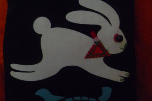 coussin, lapin, deco, couture